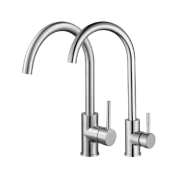 single handle high-arc kitchen faucet