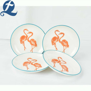 High quality custom printed design delicate decal ceramic plate