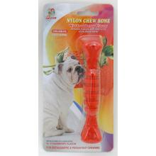 "Percell 6"" Nylon Dog Chew Spiral Bone Strawberry Scent"