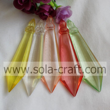 Transparent Plastic Faceted Diamond Bicone Bead Icicle for Chandelier Decoration