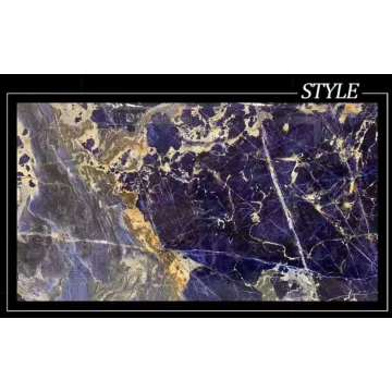 Big blue sodalite slab with white veins