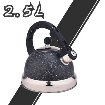 Black Frosted Stainless Steel Whistling Tea Kettle