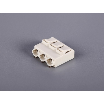 3 Poles PCB Screwless Push Wire Connectors