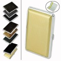 2019 Best selling Leather & Metal Cigarette Box hold 12 14 16 18 20 pcs Pouch Case Holder Tobacco Storage Container