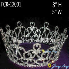 Rhinestone Beauty Pageant Crowns Round Tiaras