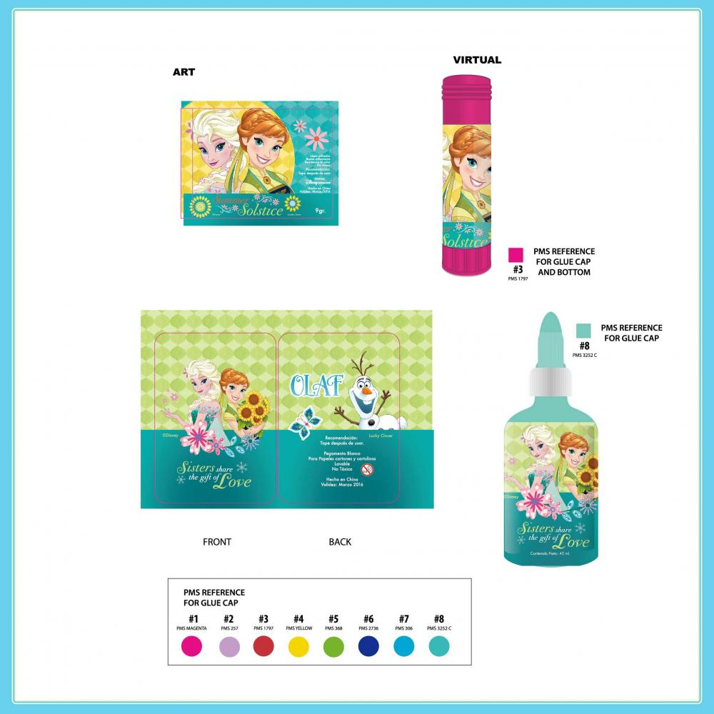 Disney Frozen Glue Stick White Glue 2