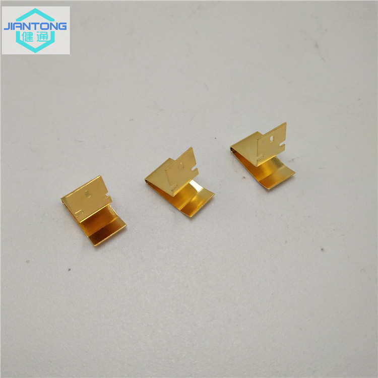 small custom stamped spring contacts with gold plating