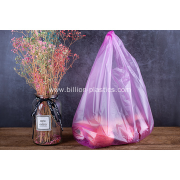 HDPE Shopping T Shirt Plastic Bag in Pink