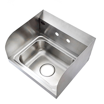 wall hung sink stainless steel specs customized size