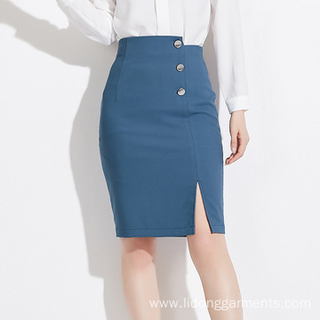 High Quality A-line Office Lady Sexy Vent Dress