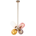 Nordic modent color bar glass hanging pendant lamp