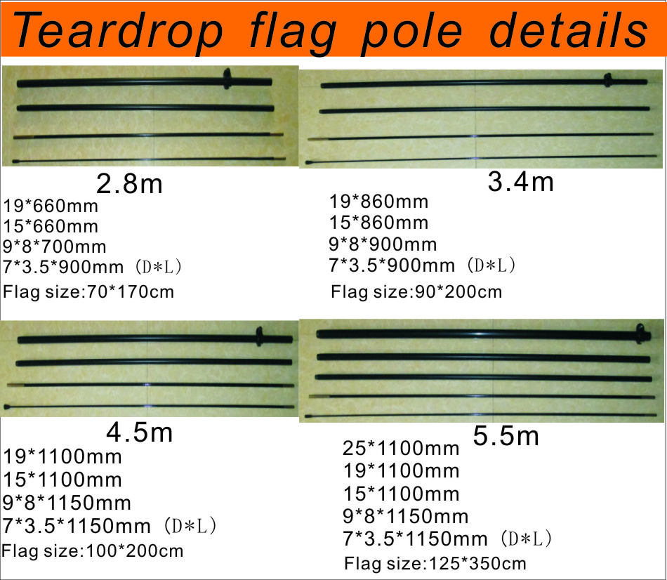 teardrop flag pole