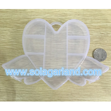 Plastic Angle Wing Shape Box Clear Plastic Jewelry Storage Case With Hole On The Top
