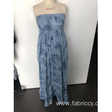 Long strapless slim dress