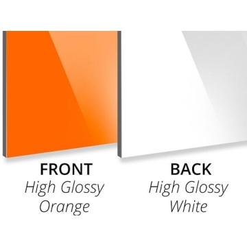 3MM Gloss Orange/Gloss White Aluminium Composite Panel Sheet