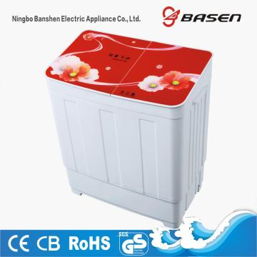 Red Glass Cover Twin Tub 6KG Washing Machine