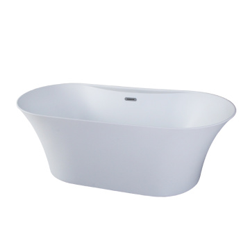 Acrylic Matte White Freestanding Bathtub