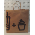 Brown Kraft Snack bag with twisted handle