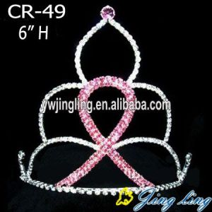 Pink Rhinestone Rainbow Pageant Jewelry CR-49