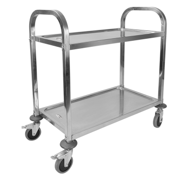 Stainless Steel 304 Two Layer Dining Trolley