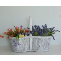 Wash white wood bark handicraft storage basket
