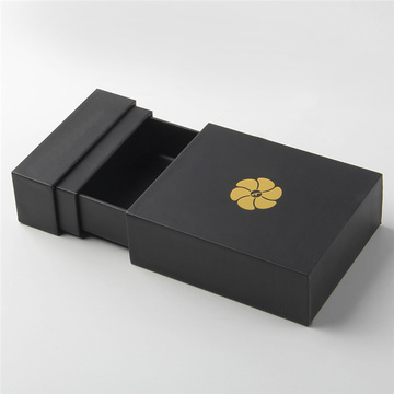 Luxury Black Cardboard Packing box for Jewelry