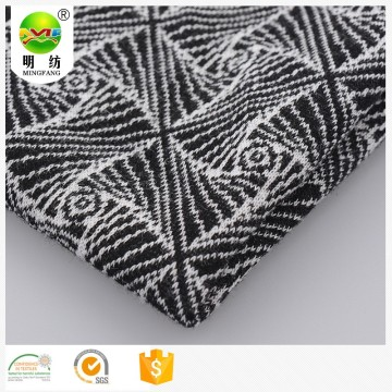 Wholesale cotton polyester spandex knitted jacquard fabric
