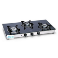 Table Toughened Glass Gas Cooktop 3 Burners