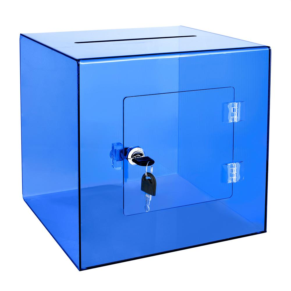 Acrylic Suggestion Box Blue