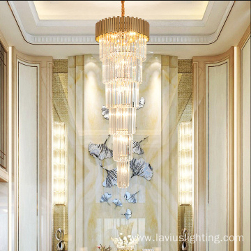 Customized hall crystal project chandelier lamp