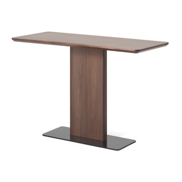 black-stone walnut wood dining table