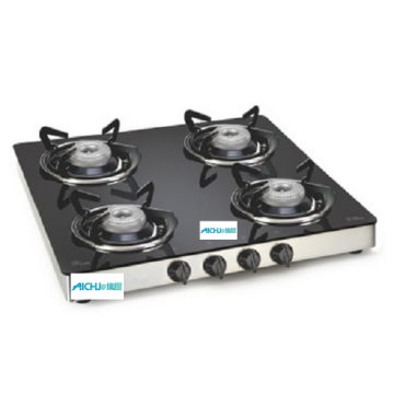 LPG Gas Glass Stove 4 Alloy Burners