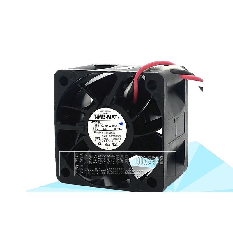 New original 1611KL-04W-B59 4028 12V 0.39A 4CM axial cooling fan