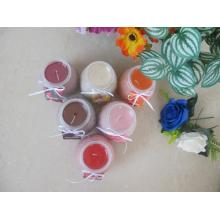 Colored Scented Plastic Lid Glass Candle