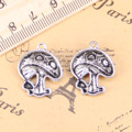 12pcs Charms mushroom 22x18mm Antique Pendants,Vintage Tibetan Silver Jewelry,DIY for bracelet necklace