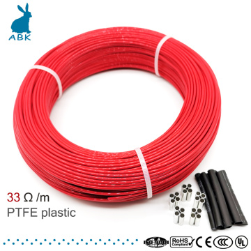 33ohm 12k PTFE flame retardant carbon fiber heating cable heating wire DIY special heating cable for heating supplies