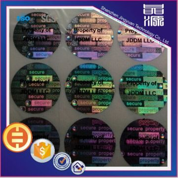 Customized laser 3d hologram security sticker label