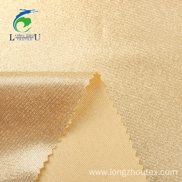 Twill Dobule Sides Satin Golden Foiling Fabric