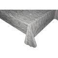 Solid Embossed Fabric Tablecloth Zippered