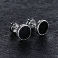Stainless steel vintage gold stud earrings for men