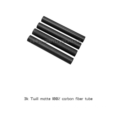 High quality customized 3k round carbon fiber tubes