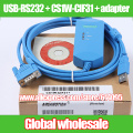 1pcs USB-RS232 + CS1W-CIF31 + adapter connector / adapter cable with isolated USB TO RS232 CONVERTER Electronic Data Systems