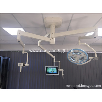 Surgical hollow lamp with camera system