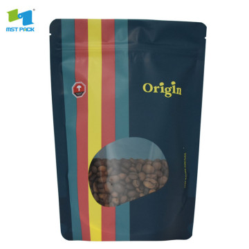 Full color printing normal zipper bag with window