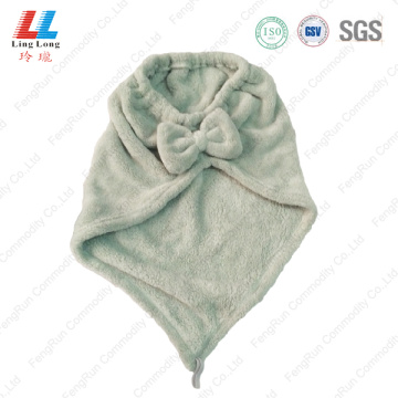 Light conducive hair washing towel headband