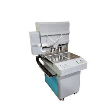 Automatic feeding machine for liquid pvc or silicone