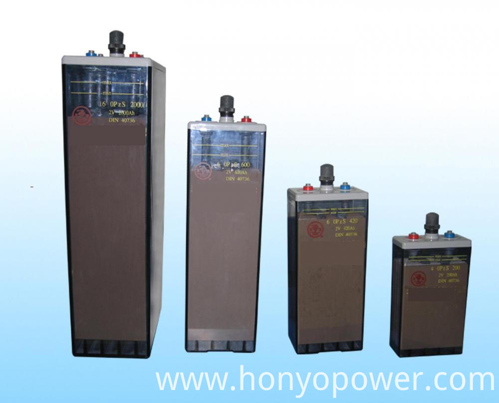 2V Series OPzS Tubular Plate Batteries