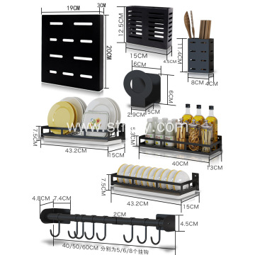 Stainless steel kitchen rack wall hanging
