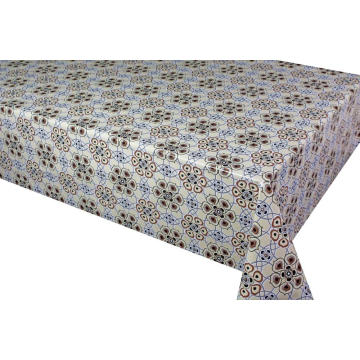 Pvc Elegant Tablecloth with Non woven backing Micron