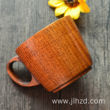 Handmade wood handle milk/tea cup wooden coffee mug